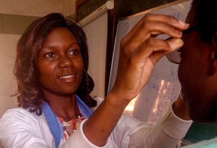 Mzuzu University optometry graduate Esther Solomon